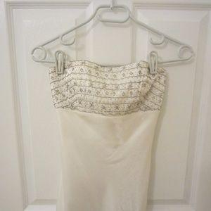 Cache Strapless Evening Gown Dress